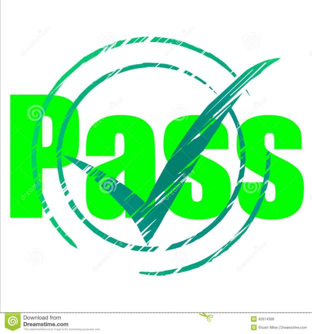 pass-tick-indicates-yes-passing-approve-meaning-checkmark-passed-mark-42014308